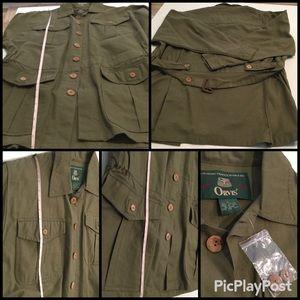 Orvis Long Sleeves Khaki Cotton Safari Jacket NWOT